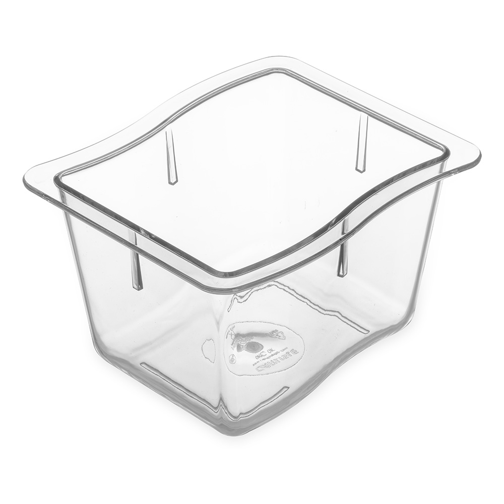 "Carlisle 69864-07 1/3 Size Modular Displayware Pan - 4"" D, Polycarbonate, Clear"