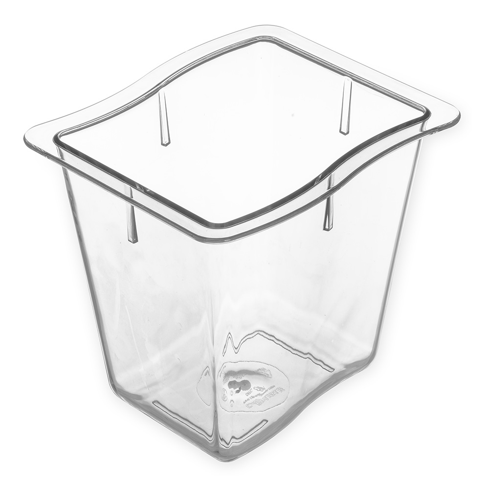 "Carlisle 69866-07 1/3 Size Modular Displayware Pan - 6"" D, Polycarbonate, Clear"