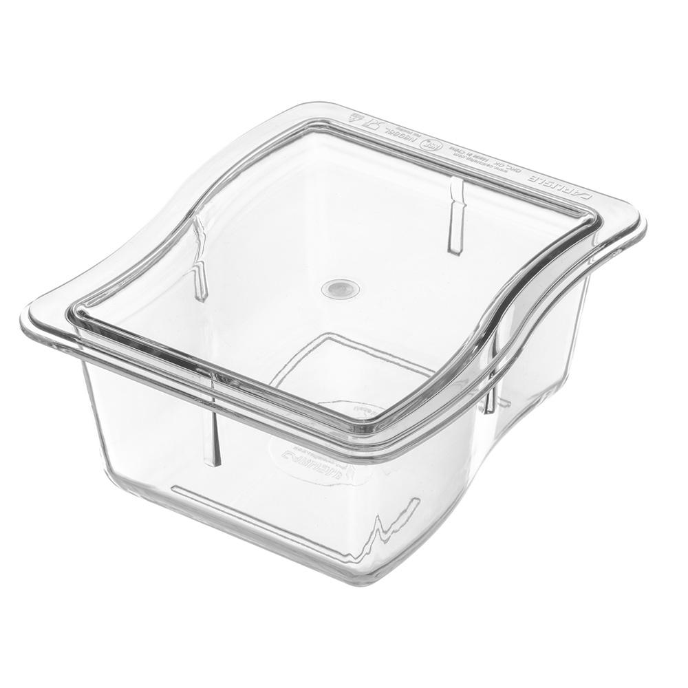 Carlisle 6986L07 Third Size Food Pan - Polycarbonate, Clear