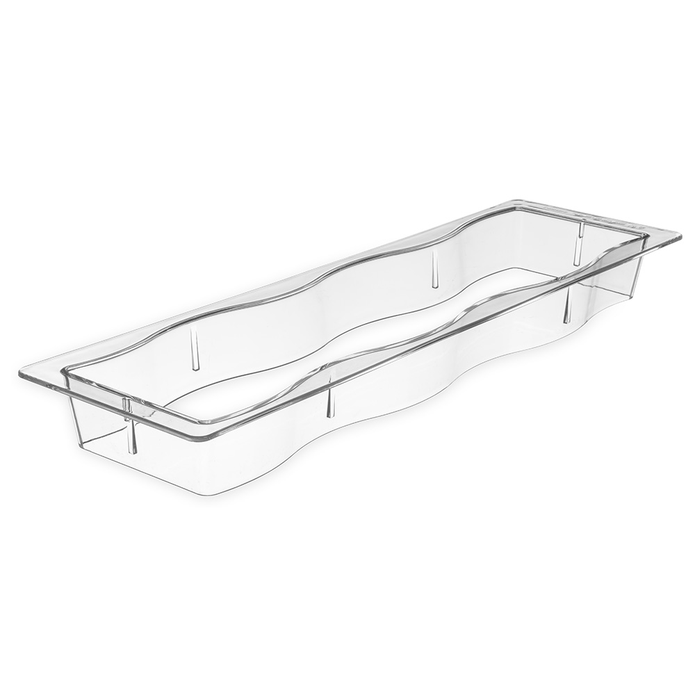 Carlisle 6988-07 Modular Displayware Pan Collar - Half-Size Long, Polycarbonate, Clear