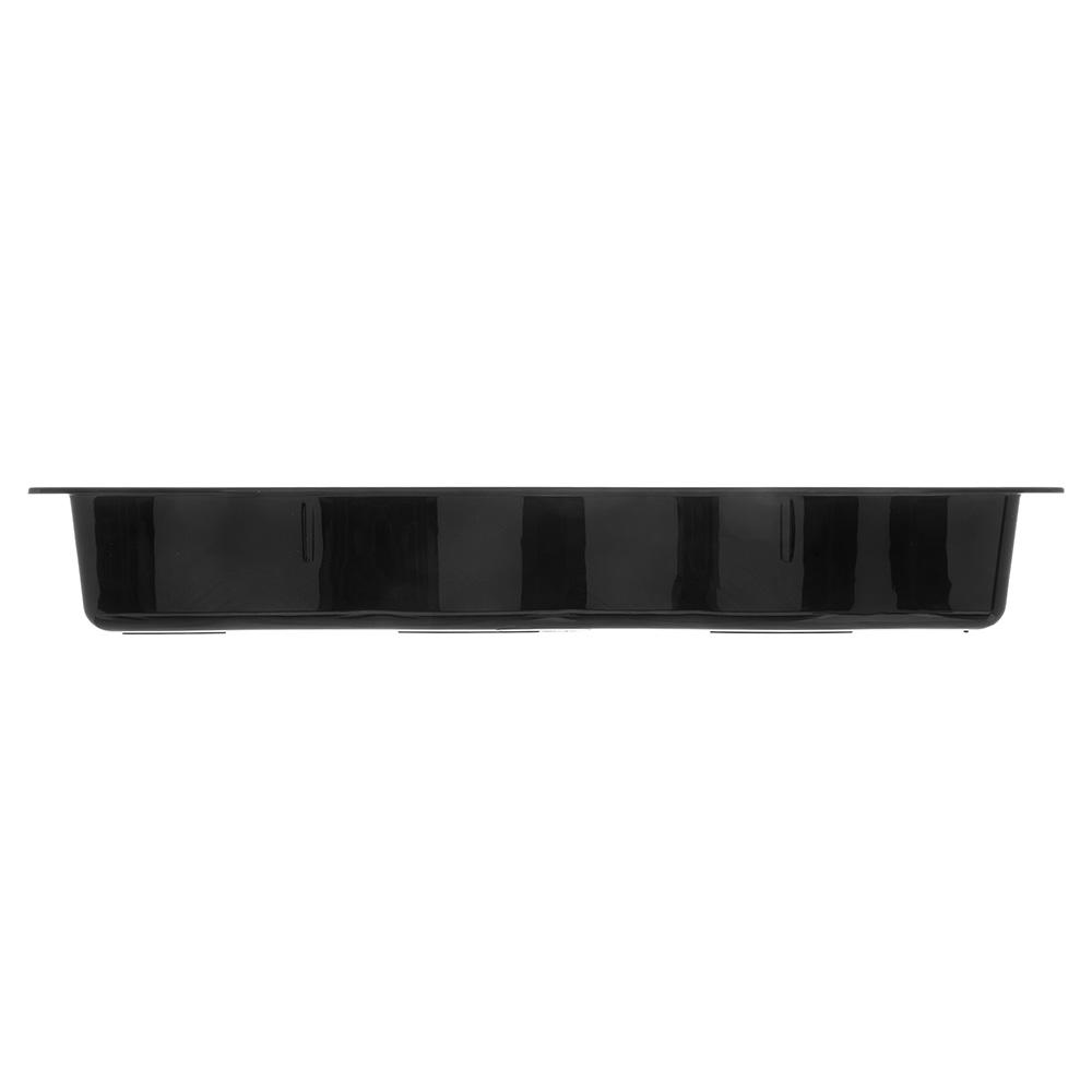 Carlisle 699003 Half Size Long Food Pan - Polycarbonate, Black