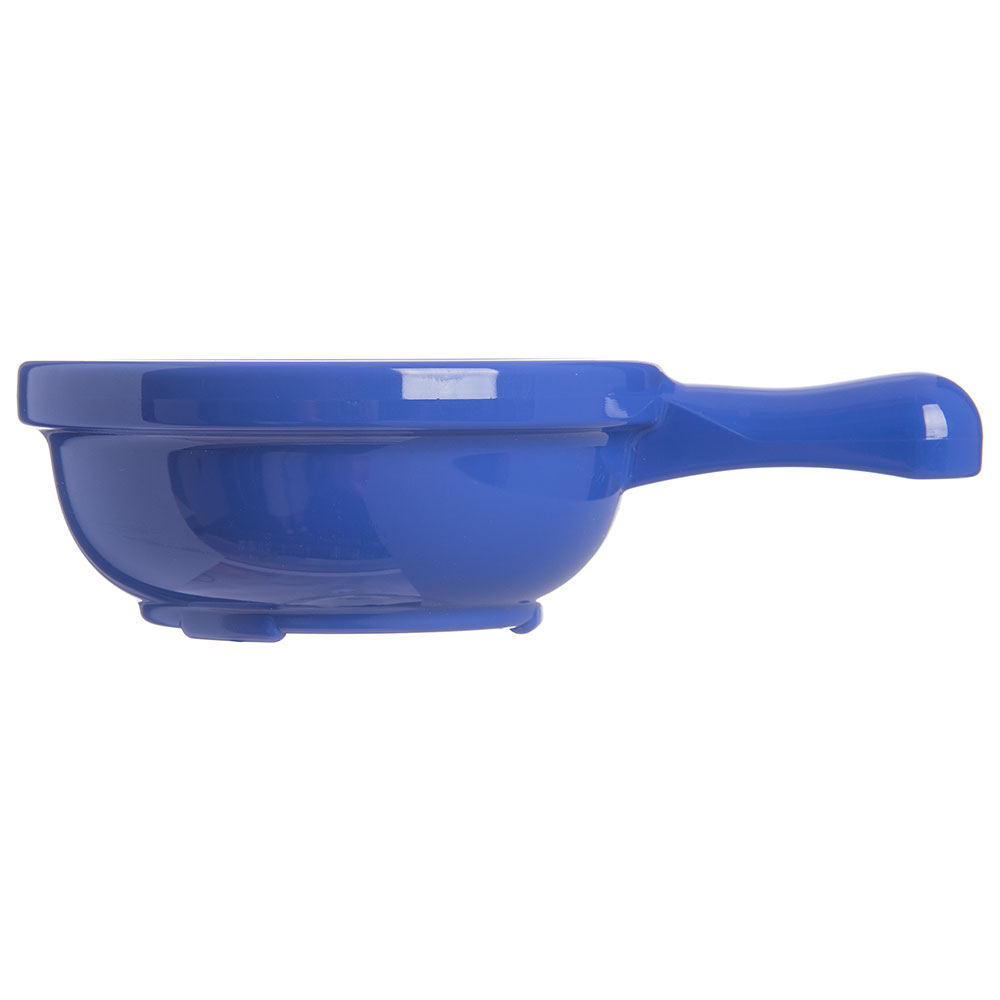 "Carlisle 700614 4.625"" Round Handled Soup Bowl w/ 8-oz Capacity, Plastic, Ocean Blue"