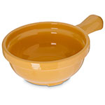 Carlisle 700622 8-oz Handled Soup Bowl -  Honey Yellow