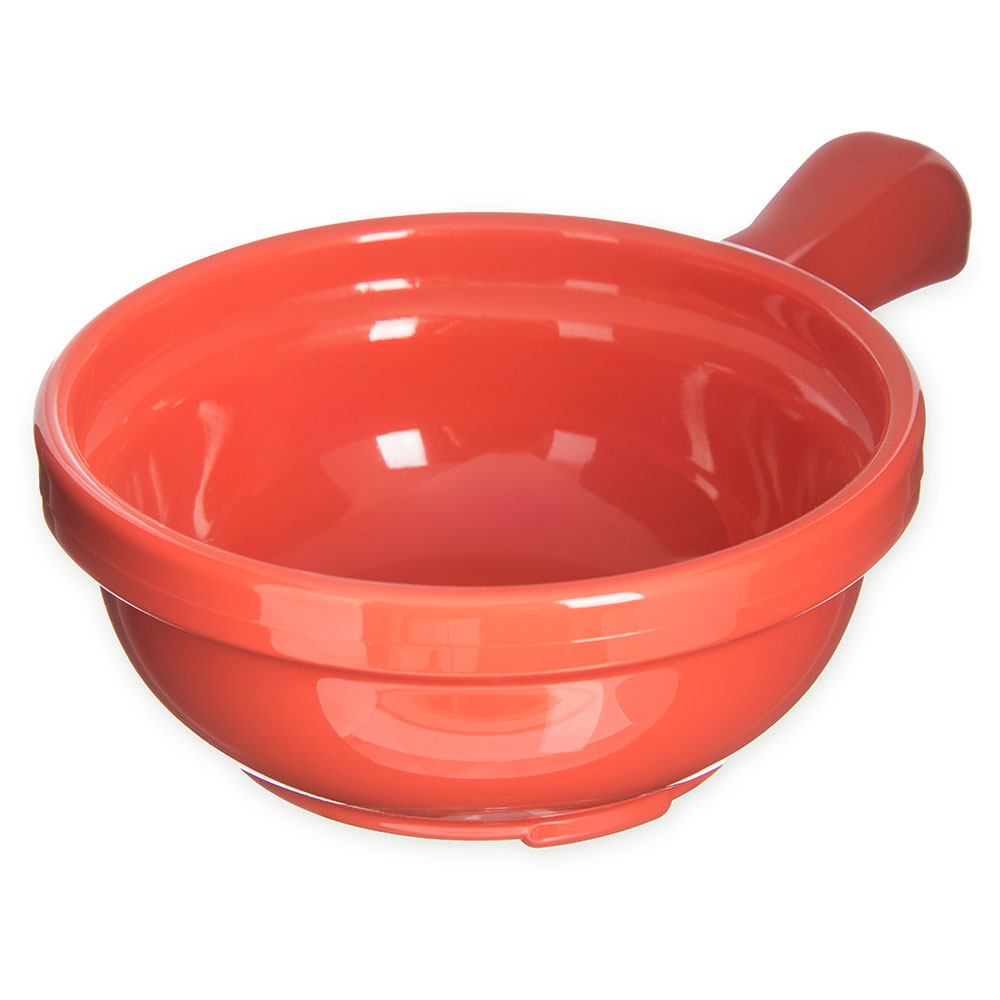 Carlisle 700652 8-oz Handled Soup Bowl -  Sunset Orange