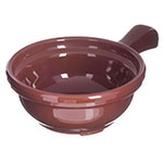 "Carlisle 700628 Handled Soup Bowl, 8 oz., 4-5/8""Diameter, Brown, SAN"
