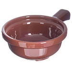 "Carlisle 700828 5.25"" Round Handled Soup Bowl w/ 12-oz Capacity, Plastic, Lennox Brown"
