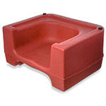Carlisle 711005 Dual-Height Booster Seat - Polyethylene, Red