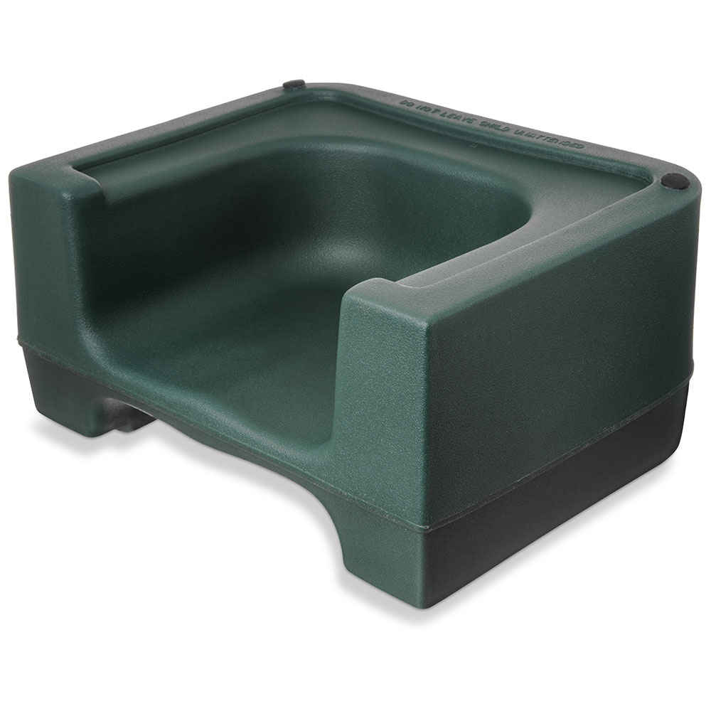 Carlisle 711008 Dual-Height Booster Seat - Polyethylene, Forest Green