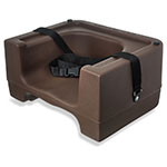 Carlisle 7111-401 Dual Booster Seat - Adjustable Strap, Polyethylene, Brown