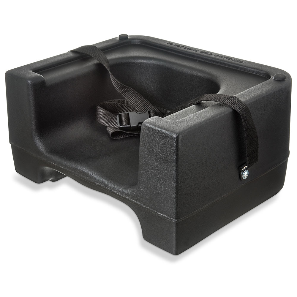 Carlisle 7111-403 Dual Booster Seat - Adjustable Strap, Polyethylene, Black