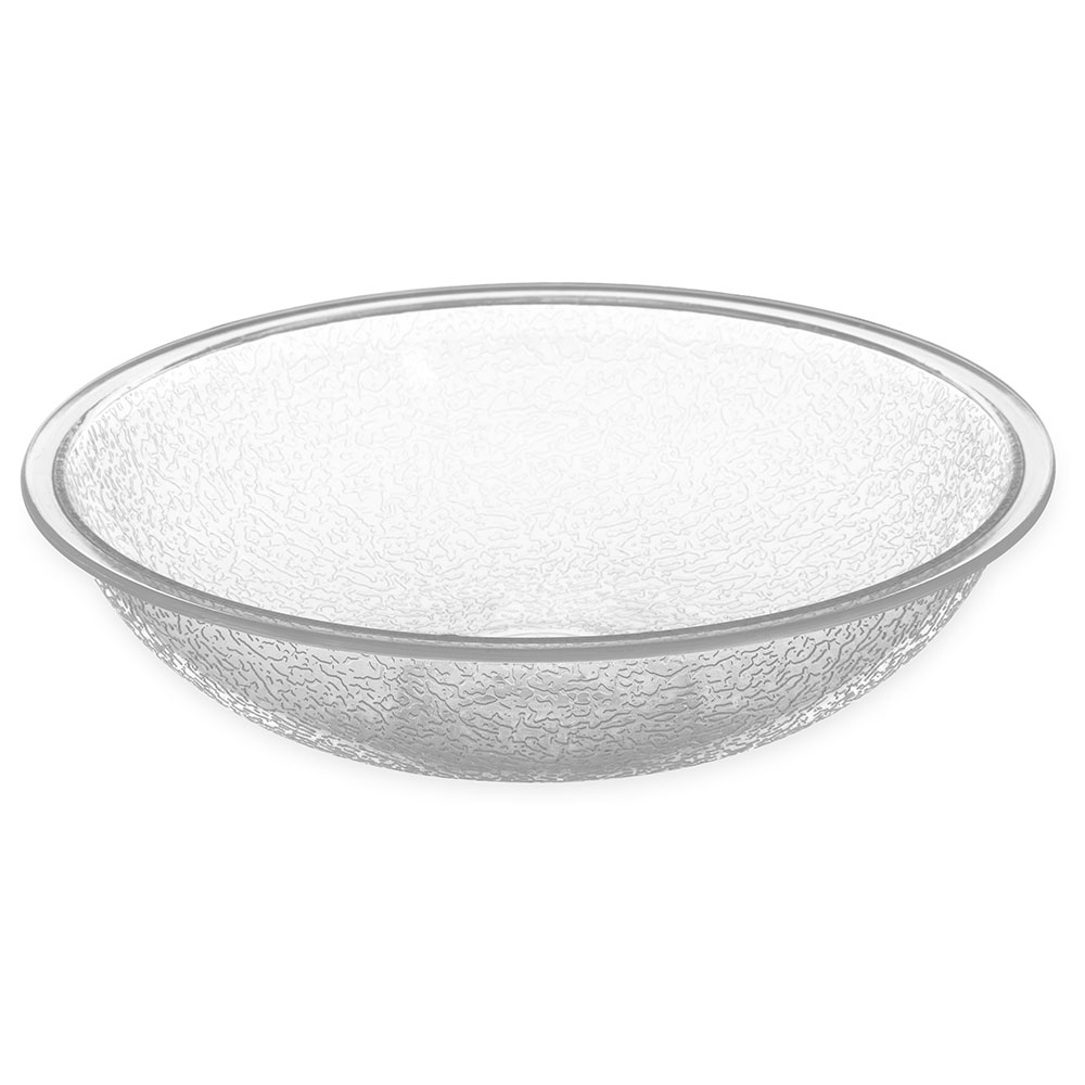 Carlisle 721207 Pebbled Salad Bowl, 5.5 qt., Polycarbonate, Clear, NSF