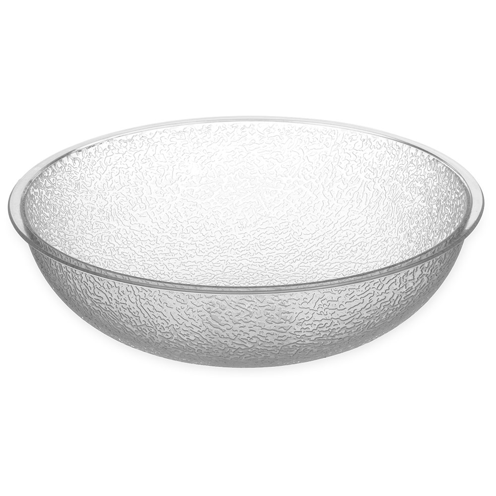 Carlisle 721007 Pebbled Salad Bowl, 3 qt., Polycarbonate, Clear, NSF