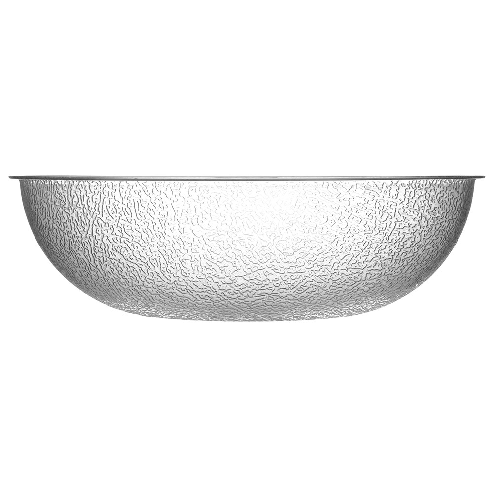 "Carlisle 721207 12"" Round Salad Bowl w/ 5.5-qt Capacity, Polycarbonate, Clear"