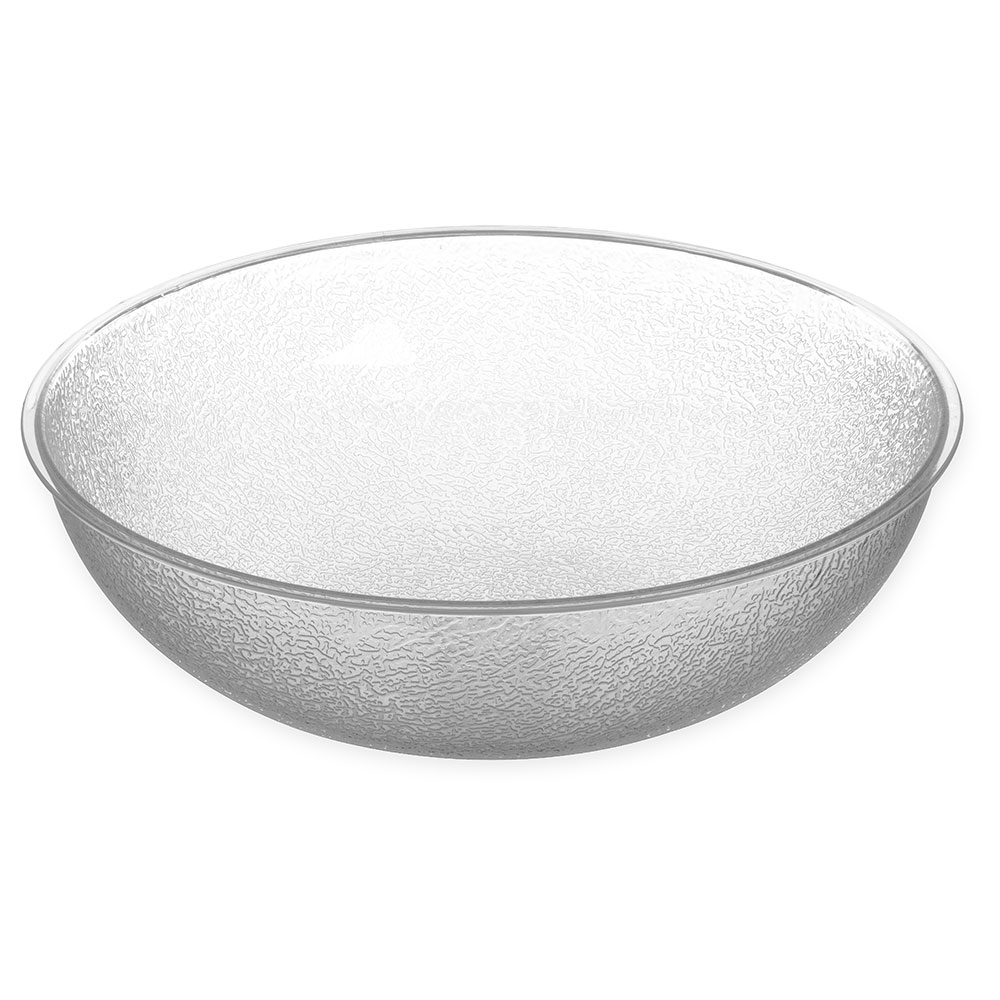Carlisle 721507 Pebbled Salad Bowl, 11 qt., Polycarbonate, Clear, NSF