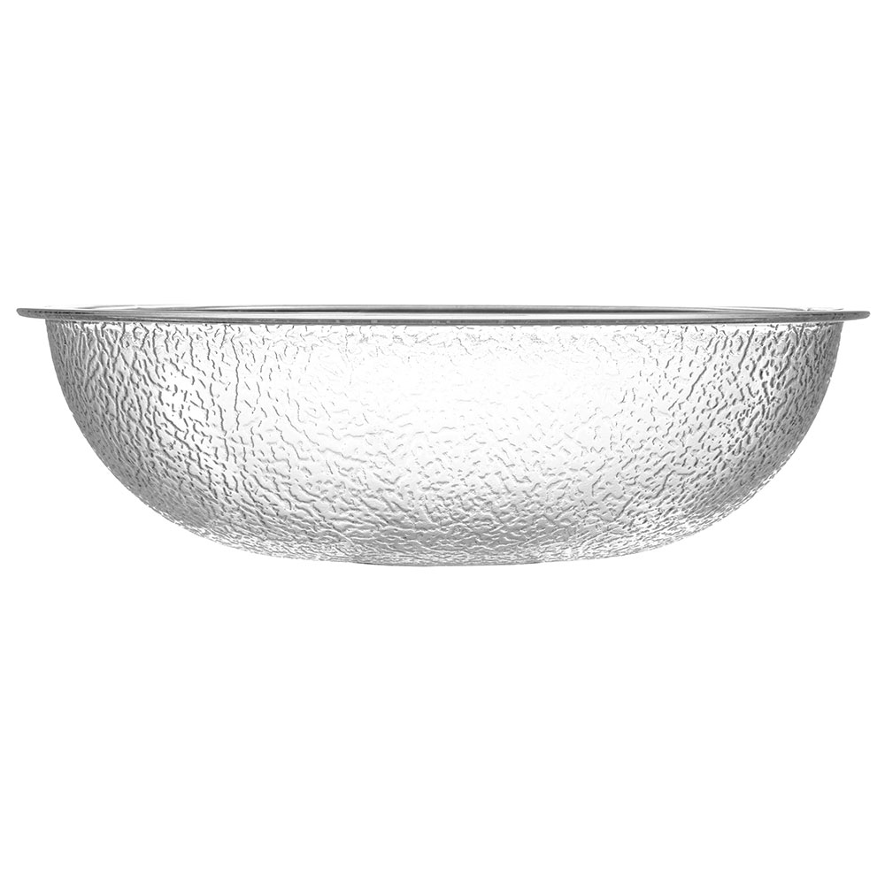 "Carlisle 721807 18"" Round Salad Bowl w/ 18-qt Capacity, Polycarbonate, Clear"
