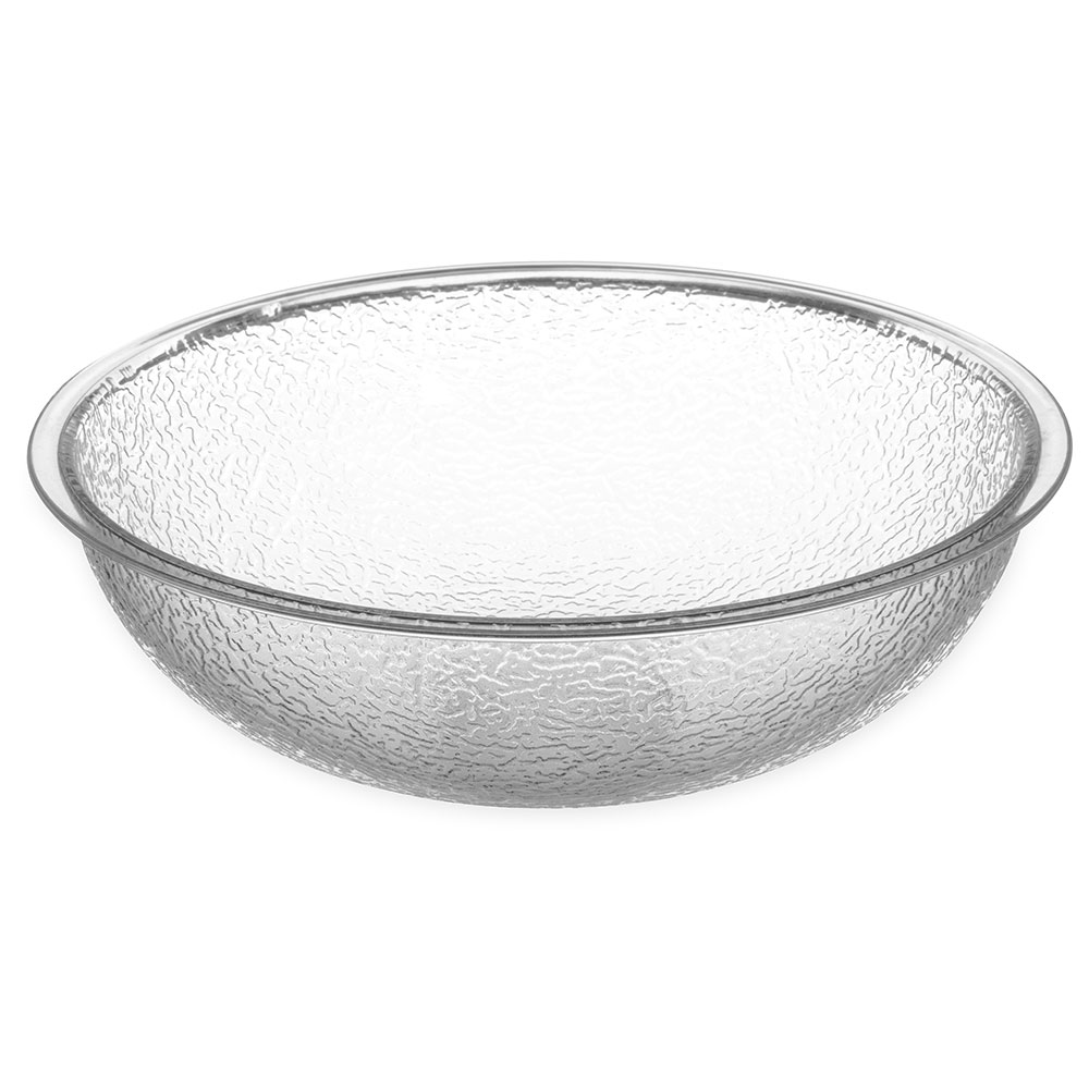 "Carlisle 721807 18"" Round Salad Bowl w/ 18-qt Capacity, Polycarbonate, Clear"