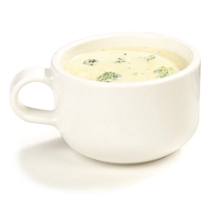"Carlisle 741002 3.9375"" Round Soup Mug w/ 10-oz Capacity, Polycarbonate, White"