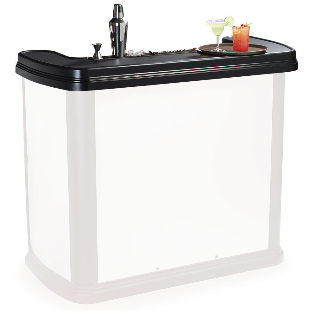 Carlisle 754703 Portable Bar Top - Maximizer Portable Bar, Black