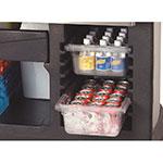 "Carlisle 755003 56"" Maximizer Portable Bar - 15-gal Ice Bin, Polyethylene, Black"