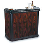 "Carlisle 7550094 56"" Portable Bar - 15-gal Ice Bin, Polyethylene, Cherrywood"