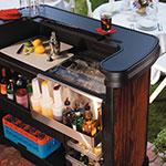 "Carlisle 7550094 56"" Portable Bar - 15-gal Ice Bin, Polyethylene, Cherrywood"