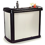 "Carlisle 755044 56"" Portable Bar - 15-gal Ice Bin, Polyethylene, Stainless"