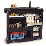 "Carlisle 755044 56"" Portable Bar - 15-gal Ice Bin, Polyethylene, Stainless"