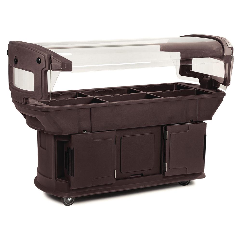 Carlisle 771101 Maximizer Food Bar - (6)Full-Size Pan Capacity, Polyethylene, Brown