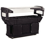 Carlisle 771103 Maximizer Food Bar - (6)Full-Size Pan Capacity, Polyethylene, Black