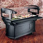 "Carlisle 771103 93"" Cold Food Bar w/ (6) Full-Size Pan Capacity, Polyethylene, Black"