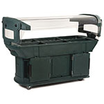 "Carlisle 771108 93"" Cold Food Bar w/ (6) Full-Size Pan Capacity, Polyethylene, Forest Green"
