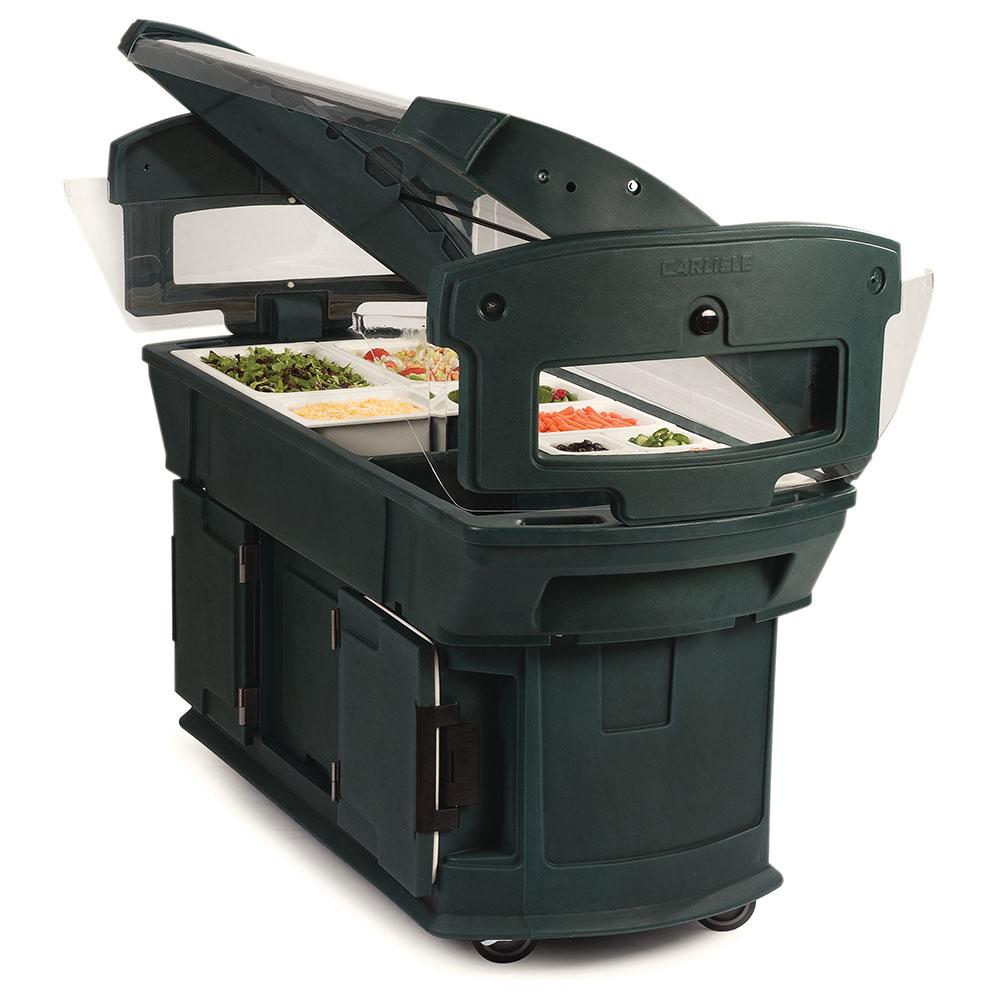 "Carlisle 771108 93"" Cold Food Bar w/ (6) Full-Size Pan Capacity, Polyethylene, Forest Green"