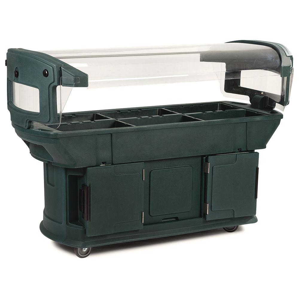 Carlisle 771108 Maximizer Food Bar - (6)Full-Size Pan Capacity, Polyethylene, Forest Green