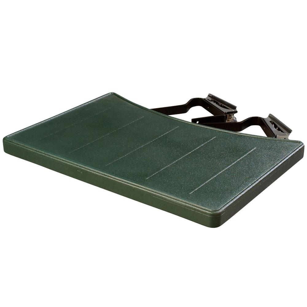 """Carlisle 772508 17.5"""" Food Bar End Shelf - Polyethylene, Forest Green"""