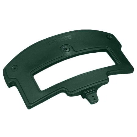 Carlisle 776008 Replacement Sneeze Guard Post - Food Bar, Polyethylene, Forest Green