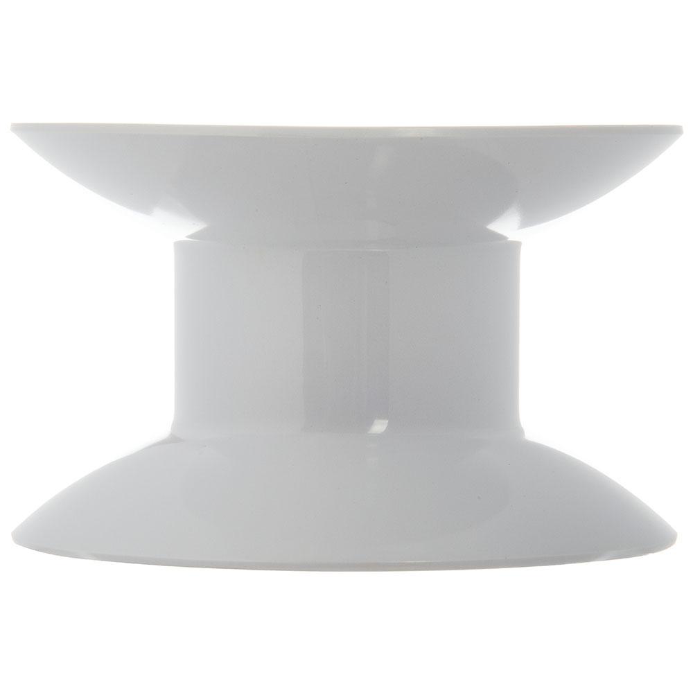 "Carlisle 790102 4""H Round Display Riser - Melamine, White"