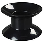 "Carlisle 790103 4""H Round Display Riser - Melamine, Black"