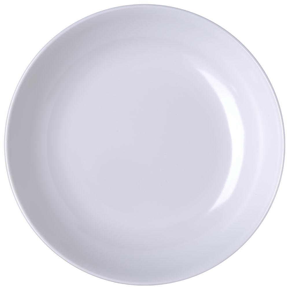 "Carlisle 791002 10.5"" Round Pasta Bowl w/ 80-oz Capacity, Melamine, White"