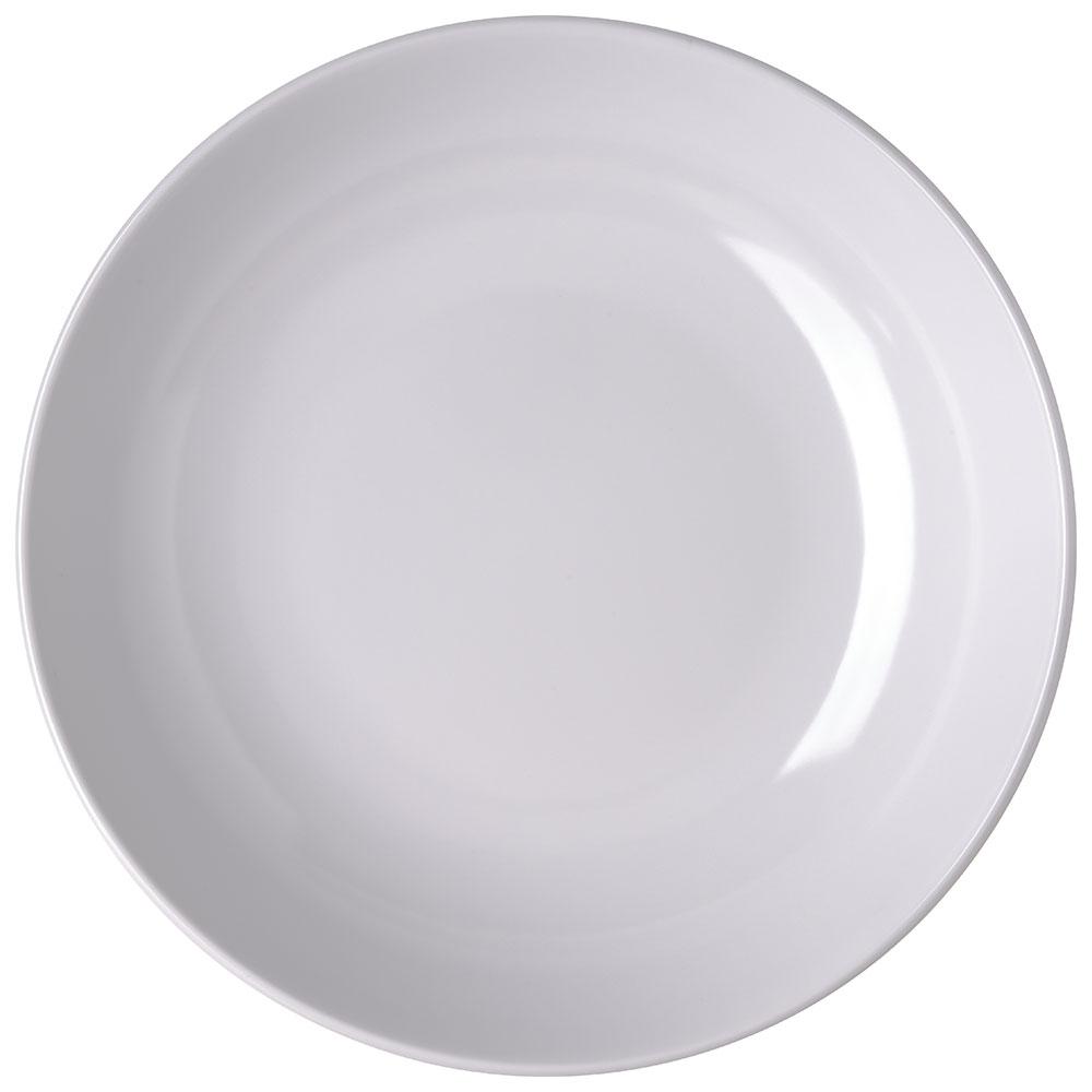 "Carlisle 791302 13"" Round Pasta Bowl w/ 160-oz Capacity, Melamine, White"