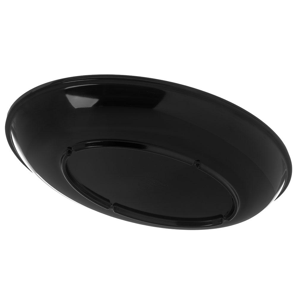 "Carlisle 791403 Oval Platter - 14"" x 10"", Melamine, Black"