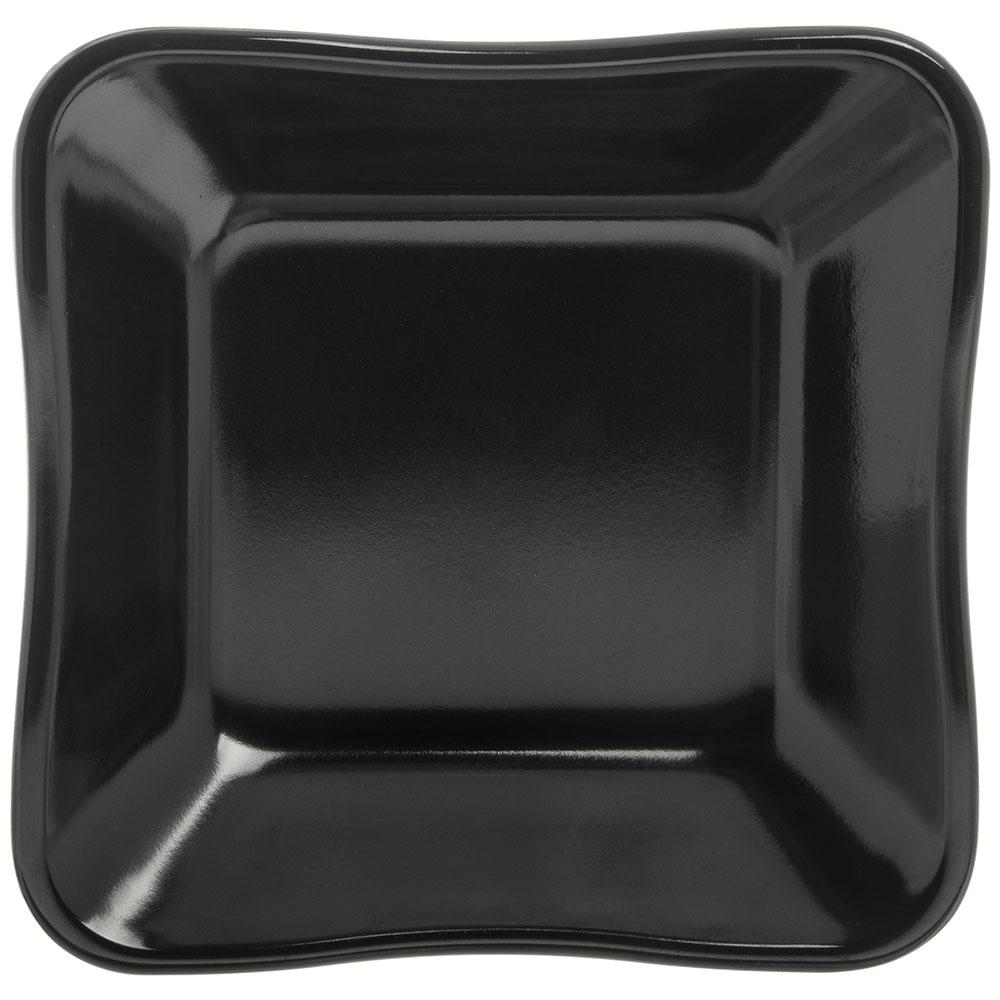 "Carlisle 793403 5.5"" Square Dish - Melamine, Black"