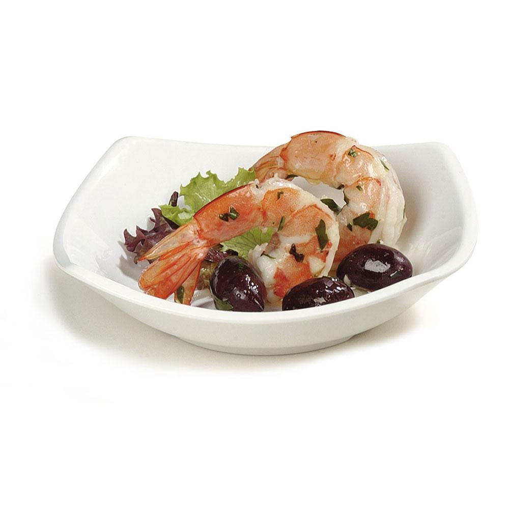 "Carlisle 794202 5.25"" Square Side Dish w/ 5-oz Capacity, Melamine, White"