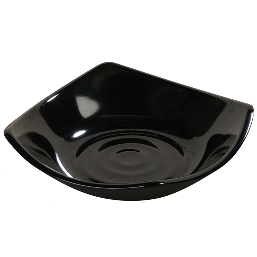 Carlisle 794203 5-oz Square Side Dish - Melamine, Black