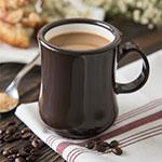 Carlisle 800401 8-oz Diablo Coffee Mug - Brown/White