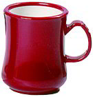Carlisle 800405 Coffee Mug - 8 oz. - Red