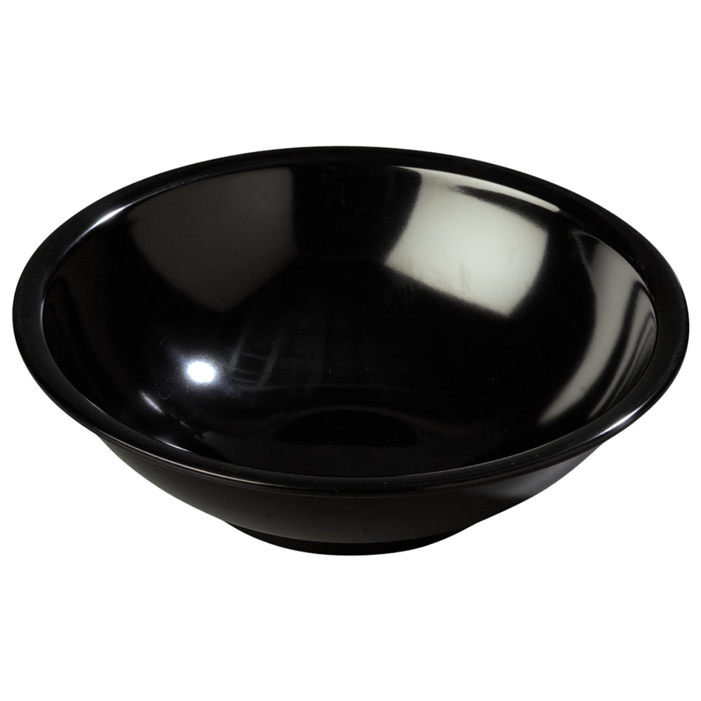 Carlisle 800B03 Salad Bowl, 7-1/2 in, 27 oz., Melamine, Black, NSF