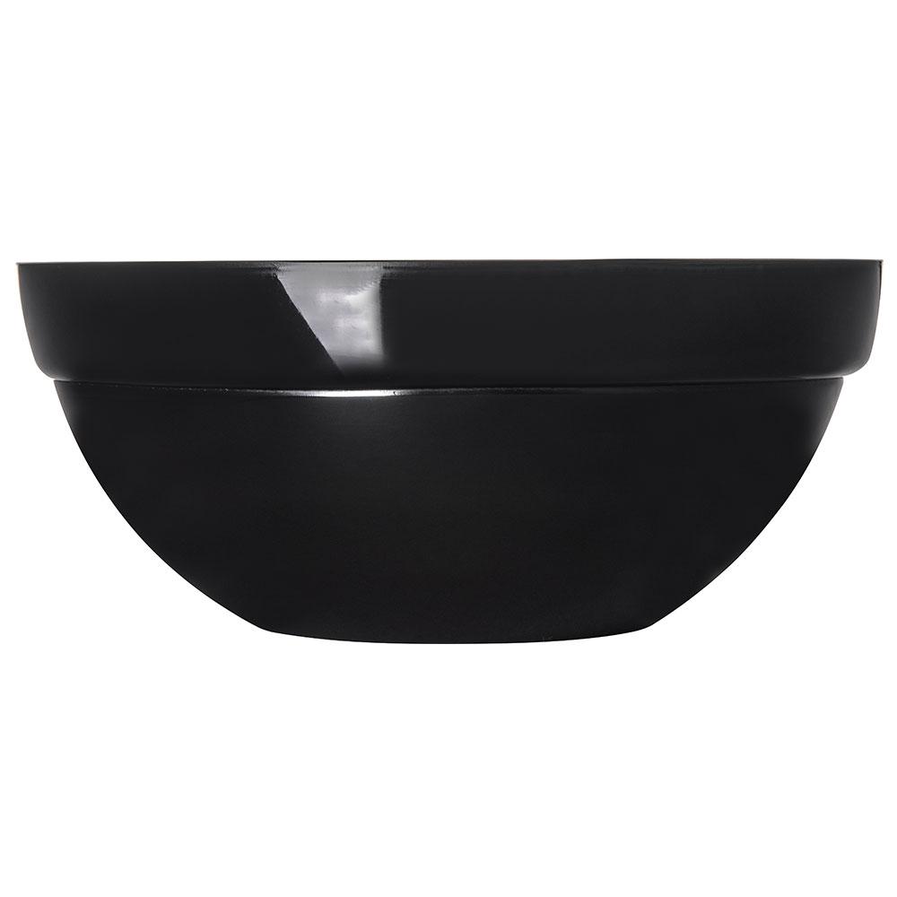 "Carlisle 810003 9.5"" Round Bowl w/ 3-qt Capacity, Acrylic, Black"