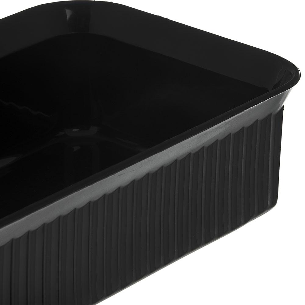 """Carlisle 811003 Rectangular Crock w/ 5-lb Capacity, 10"""" x 6"""", Polypropylene, Black"""