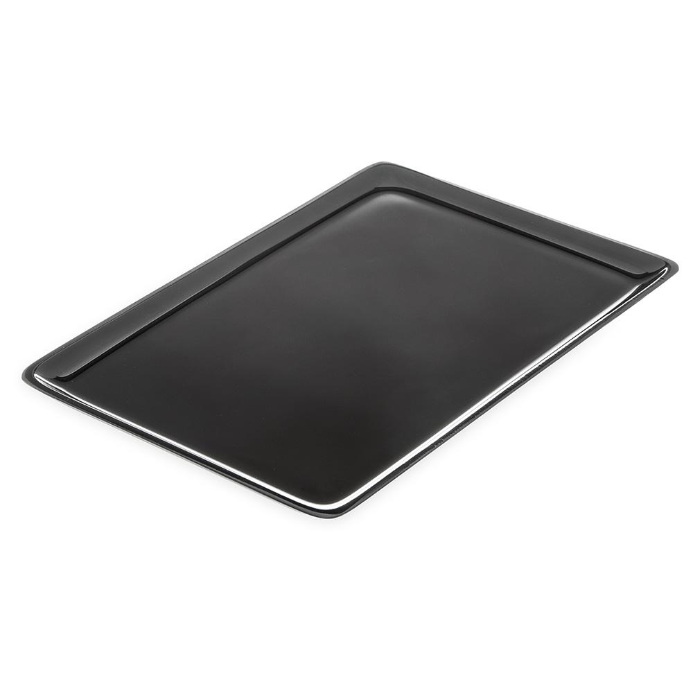 "Carlisle 850803 Rectangular Deli Platter - 12x8"" Acrylic, Black"