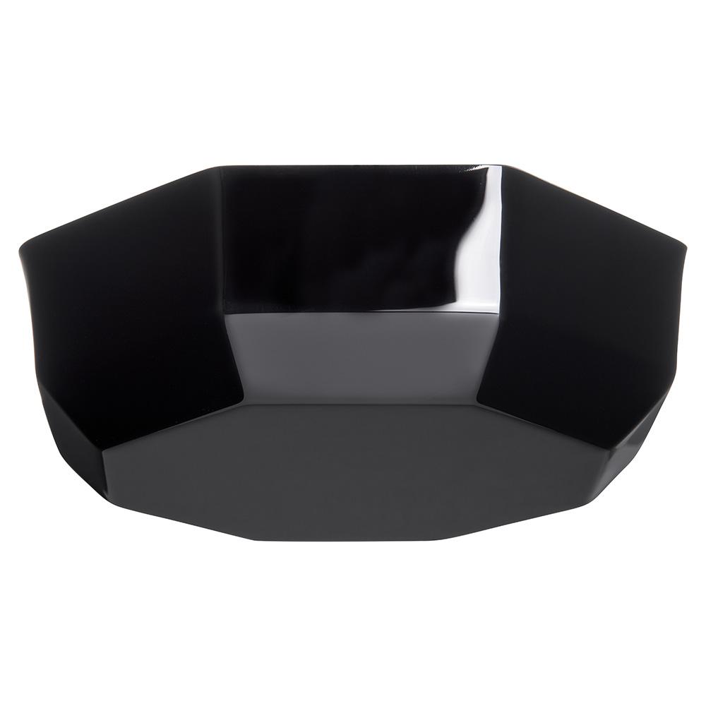 "Carlisle 888703 9.3125"" Round Serving Bowl w/ 5-lb Capacity, Acrylic, Black"